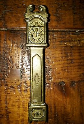 Antique Vintage Retro Collectable BRASS Door Knocker Grandfather Clock