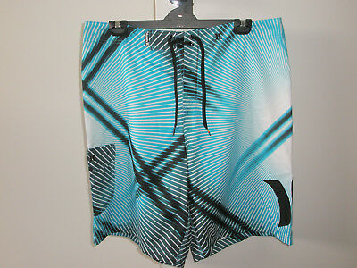 Men's HURLEY Board Shorts 100% Polyester Size 38  (98cms) Very/Good Cond.