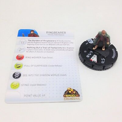 Fellowship of the Ring set Pippin #007 Common figure w//card! Heroclix LotR