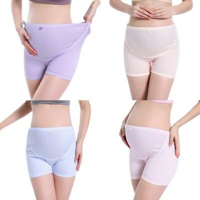 Pregnant Women Cotton High Waist Adjustable Support Elastic Band Breathable Pant