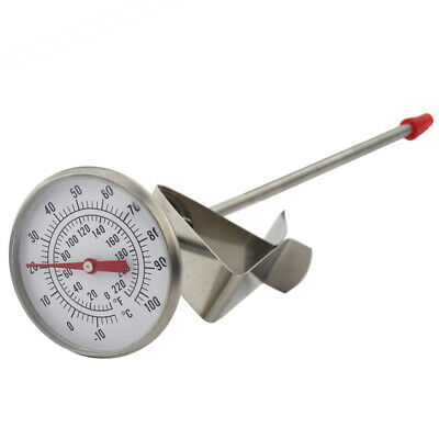 Dairy Milk Thermometer 175 Mm Stainless Steel Probe With Pan Clip - In-110