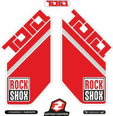 Rock Shox REVELATION 2018 Fork Decal Mountain Bike Cycling Sticker Adhesive Red