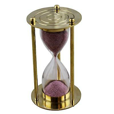 Solid Brass Sand Timer Hour Glass Beautiful Bass Sand timer Sand Timer TWO Mint