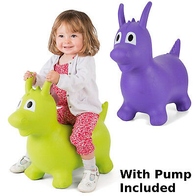 Jump Bounce Dragon Space Hopper Green Purple Sensory Toy Kids Gross Motor Skills