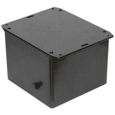 Hammond 1591VSFLBK Multipurpose GPABS Enclosure Flanged Lid 120 x 120 x 94 Black