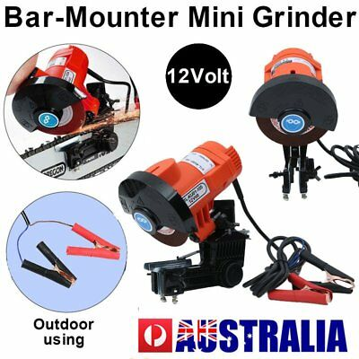 Powerful 12V 85W CHAINSAW SHARPENER Chain Saw Electric Grinder File Pro Tool GM