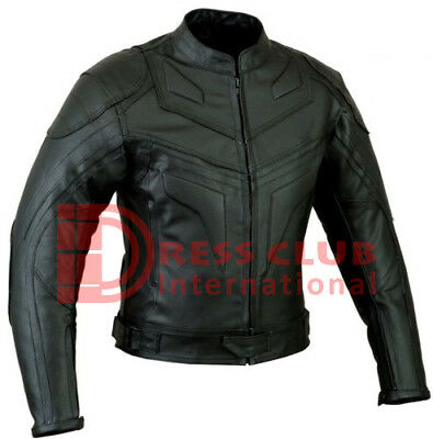 Batman Style Premium Quality Men's Ce Armour Motorbike Motorcycle Leather Jacket