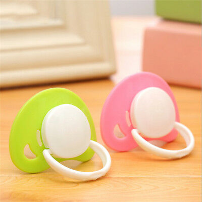 Round Flat Head Nipple Baby Pacifier Soother Dummy Pacifier Infant Teat Nipple B