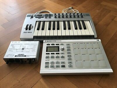 Native Instruments Maschine Mikro MK II + Xboard 25 + Edirol UA 25 Audio Interfa