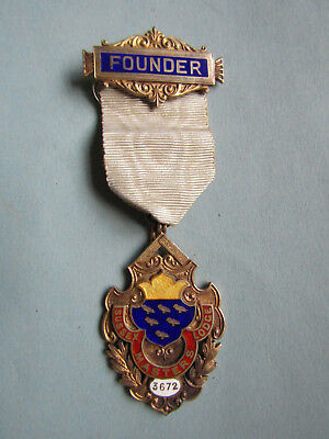 ANTIQUE Silver Masonic FOUNDERS  Jewel  1913  SUSSEX MASTERS  LODGE No. 3672