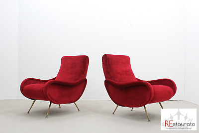 Poltrone in velluto anni 50 - Mid century velvet lounge chairs