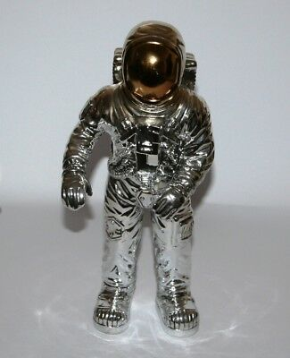 Astronaut SPACEMAN Figure Contemporary Sculpture Ornament 34cm Electroplated NEW