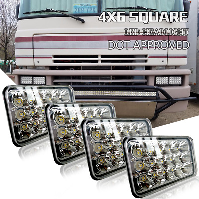 DOT Headlight For H4656 Kenworth T800 T400 T600 Peterbilt FREIGHTLINER SUV 4pc