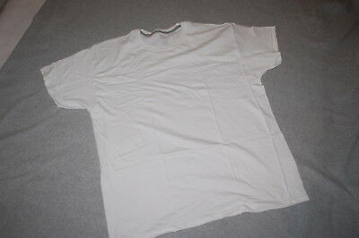 Mens S/S Tee Shirt SOLID WHITE Crew Neck FRUIT OF THE LOOM PLATINUM Sz 2XL 50-52