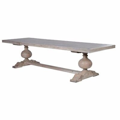 Large Refectory Dining Table With Motifs - Comfortably seats 12