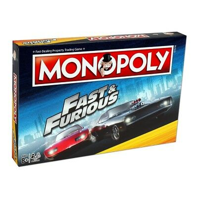Fast & Furious Monopoly Board Game Brand New Gift