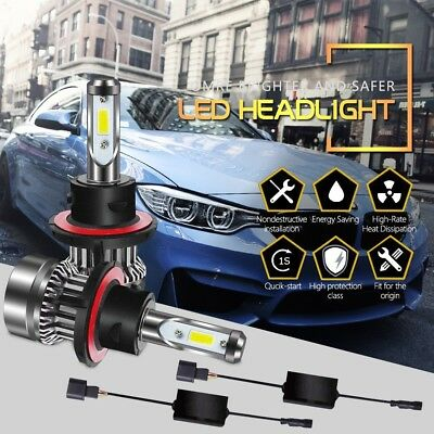 9008 H13 LED Headlight Bulbs DOT Approved 6500K 6000LM Hi/Lo Beam 60W