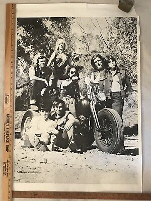 Original 1968 Outlaw Motorcycles Movie Poster Harley Davidson