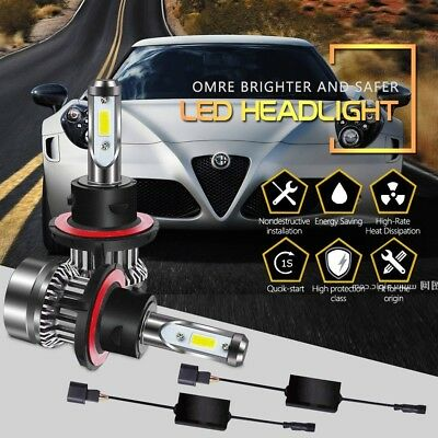 H13 9008 LED Headlight Bulbs Hi/Lo Beam 60W DOT Approved 6000LM 6500K Chips