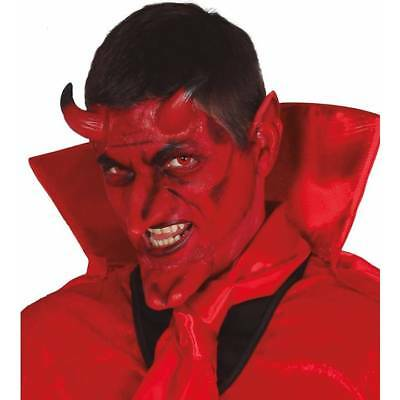 Demon Devil Prosthetic Kit Horns, Chin & Ears Halloween FX Fancy Dress