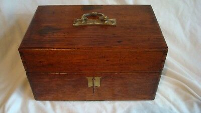 Antique Victorian Apothecary/Chemists box, bottles included