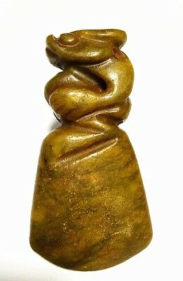 Chinese hongshan culture old jade Carved *Sun god* amulet Pendant  A