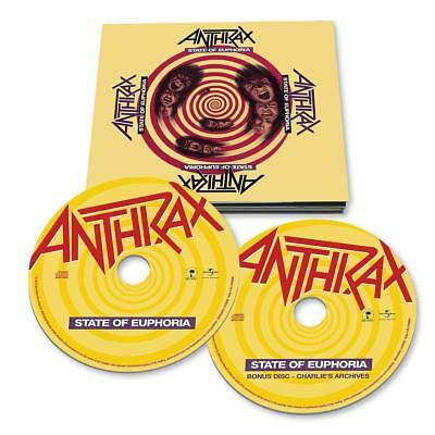 Anthrax State Of Euphoria 2 Cd 30Th Anniversary Edition - New Release 2018