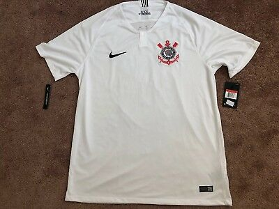 1e19429215b Nike Corinthians Home Soccer Football Jersey Shirt Size Large New With Tags