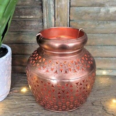Moroccan Style Copper Metal Tea Light Candle Holder Christmas Wedding Decor