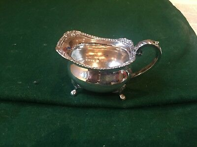 Small rectangular Sheffield Silver Sauce boat John Watson 1882