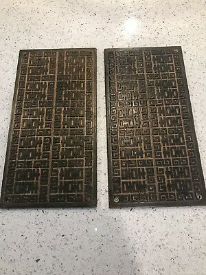Solid Brass Vintage Swing door push plates