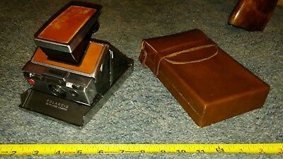 Original Vintage Polaroid SX-70 Land Camera With Leather Case Untested