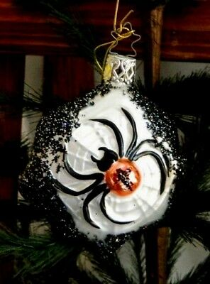 Inge's Christmas Heirlooms  Spider Spinning Her Web  Halloween Ornament  Germany