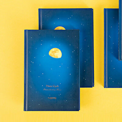 """""""Moon Cycle"""" 1pc Beautiful Hard Cover Diary Lined Notebook Journal Student Gift"""