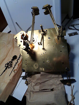 NOS-Erhard Jauch-Westminster Chime #85-Chain-Grandfather Clock Movement-#P525
