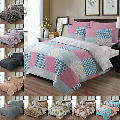 100% Cotton Duvet Cover Bedding Set 4 Piece Bedding with Sheet & 2 Pillow Cases