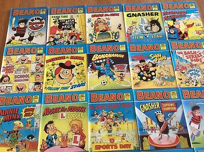Job Lot 26 Beano Comic Library Including Numbers 1-18 /  21-26 /  And 61 And 62