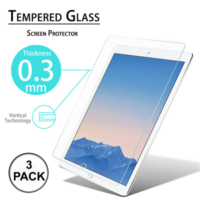 3x Tempered GLASS Screen Protector For Apple iPad 2017 2 3 4 5 Pro 9.7 Mini Air