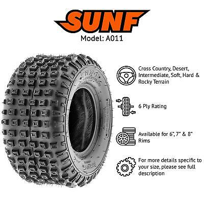 Pair of 185//30-14 SunF A039 Low Profile Quad//ATV E Marked 6PLY Two Tyres