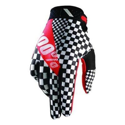 100% Motocross Guanti RIDEFIT LEGEND NERO-BIANCO MTB MX Enduro Cross