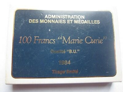 France 100 Franc 1984 Silver Proof