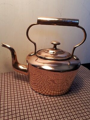 Victorian copper kettle 4 Pints dovetail joint