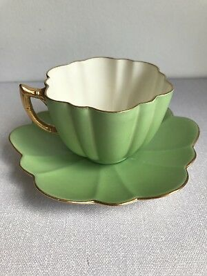 Unusual Rare Wileman Foley pre Shelley Cup And Saucer Daisy Shape c1888