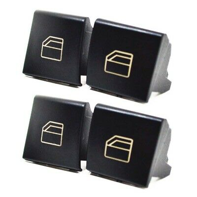 Set 4x Mercedes W169 A W245 B DRIVER SIDE WINDOW CONTROL SWITCH BUTTON COVER D91