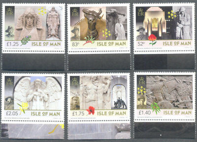 Isle of Man-The ANZAC Memorials-Art-Military-Sculptures-mnh 2018