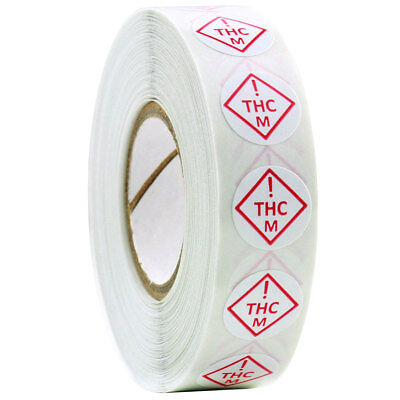 "Colorado Medical MED Universal THC Symbol Labels .5"" Round - 1,000 Stickers"
