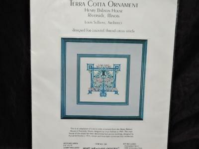 Terra Cotta Ornament Cross Stitch Kit Louis Sullivan Henry Babson House IL NEW