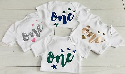 Luxury Boys First 1st Birthday T-Shirt Top Cake Smash Outfit Vest Blue 12-18m
