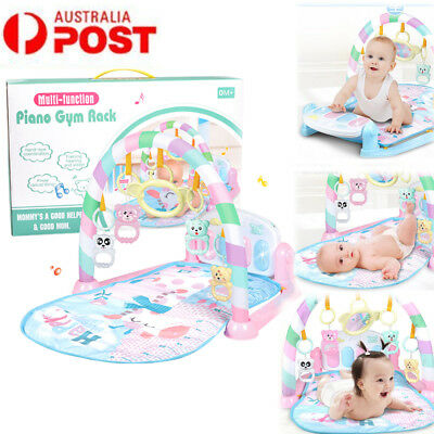 Babie Gym Play Mat Lay + Play 3 in 1 Fitness Music And Lights Fun Piano Boy Girl
