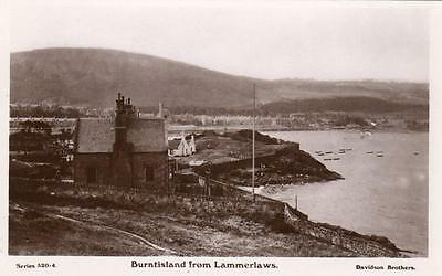 Burntisland from Lammerlaws RP old pc used 1918 Davidson Caledonia